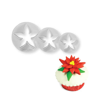 Calyx Poinsettia Cutter Set - Small NY Cake Fondant Cutter - Bake Supply Plus