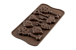 Silikomart Keys Chocolate Silicone Mold