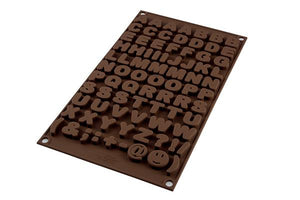 Silikomart ABC Alphabet Chocolate Silicone Mold Silikomart Silicone Chocolate Mold - Bake Supply Plus