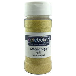 CK Sanding Sugar Gold 4 oz CK Products Sprinkles - Bake Supply Plus