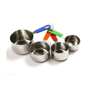 Norpro Stainless Steel Measuring Cup W/ Silicone Handle Set of 4