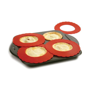 Norpro Mini Silicone Pie Pan Shields Set of 4