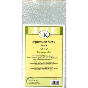 Impression Mat Zebra 4ct. CK Products Texture Mat - Bake Supply Plus