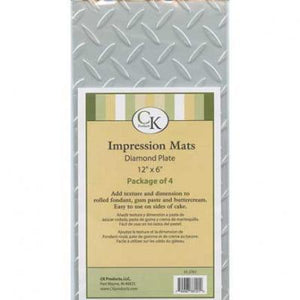 Impression Mat Diamond Plate 4ct. CK Products Texture Mat - Bake Supply Plus