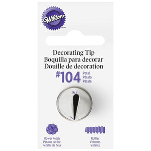 Wilton Standard #104 Petal Decorating Tip Wilton Piping Tip - Bake Supply Plus