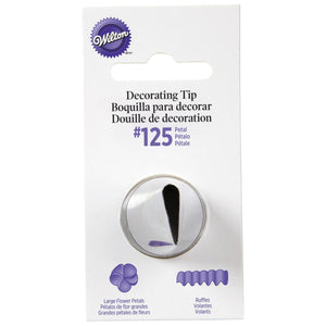 Wilton Large Petal Tip #125 Wilton Piping Tip - Bake Supply Plus