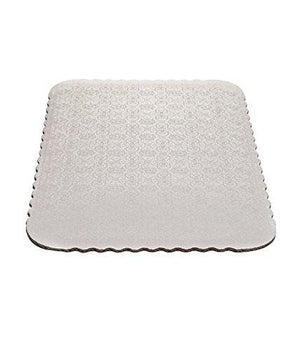 White Scalloped Double Wall Sheet Cake Boards Whalen Packaging Cake Board - Bake Supply Plus