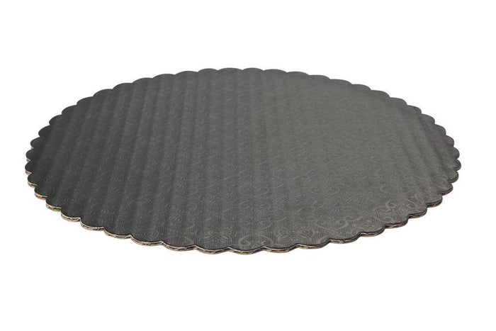 Black Scalloped Circle Cake Boards — All Sizes