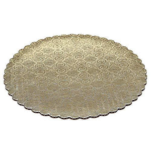 Gold Scalloped Circle Cake Boards — All Sizes Whalen Packaging Cake Board - Bake Supply Plus