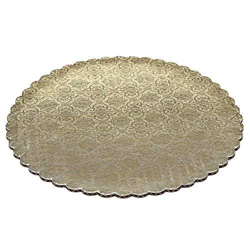 Gold Scalloped Circle Cake Boards — All Sizes