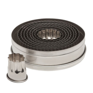 Oval Fluted Cutter Set Ateco Cutter - Bake Supply Plus