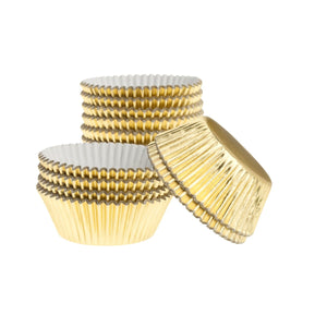 Mini Gold Baking Cup 200pk. Ateco Cupcake Liner - Bake Supply Plus