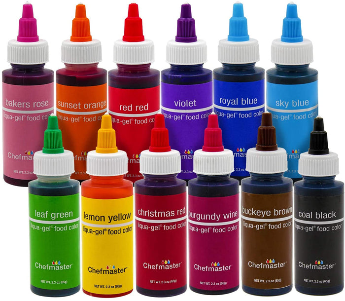 Chefmaster Liqua-Gel Food Color - All Colors