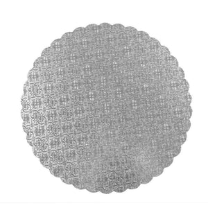 Silver Scalloped Circle Cake Boards  — All Sizes Whalen Packaging Cake Board - Bake Supply Plus