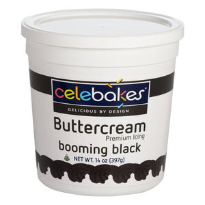 CK Buttercream Booming Black 14oz CK Products Icing - Bake Supply Plus
