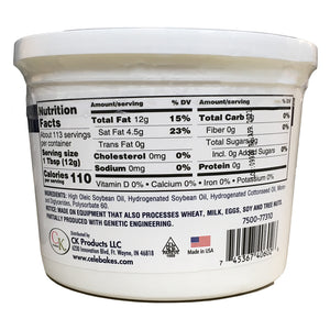 High Ratio Cake and Icing Shortening - Soy Base 3lb CK Products Shortening - Bake Supply Plus