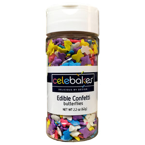 CK Edible Confetti Butterflies 2.2oz CK Products Sprinkles - Bake Supply Plus