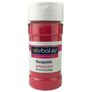 CK Nonpareils Perfectly Pink 3.8 oz/16 oz CK Products Sprinkles - Bake Supply Plus
