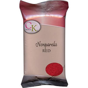 CK Nonpareils Red 3.8 oz/16 oz CK Products Sprinkles - Bake Supply Plus