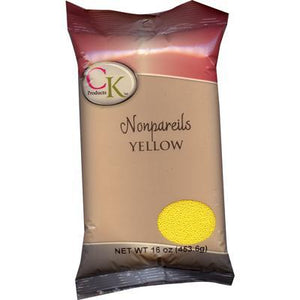 CK Nonpareils Bumblebee Yellow 3.8 oz/16 oz CK Products Sprinkles - Bake Supply Plus