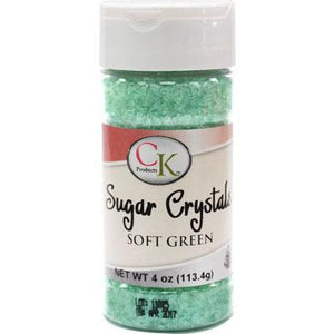 CK Sugar Crystals Soft Green 4 oz CK Products Sprinkles - Bake Supply Plus