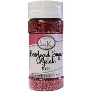 CK Pearlized Red Sugar Crystals 4 oz CK Products Sprinkles - Bake Supply Plus