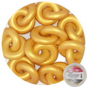 Gold Rings Dragees CK Products Non-Edible Toppers - Bake Supply Plus