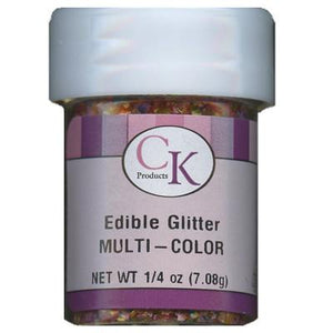 CK Edible Glitter Multi-color 1/4 oz CK Products Edible Glitter - Bake Supply Plus