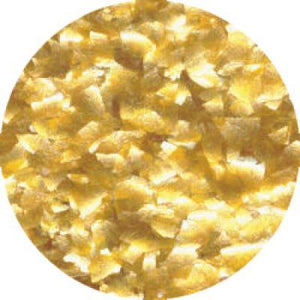 CK Edible Glitter Metallic Gold Flakes 1/4 oz CK Products Edible Glitter - Bake Supply Plus