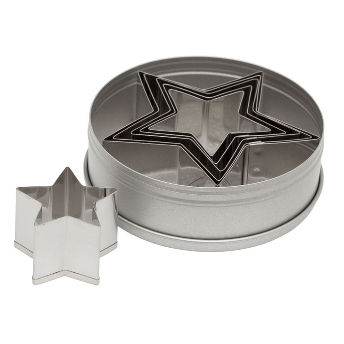 Plain Star Cutter Set 6pc