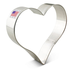"Heart 4"" Cookie Cutter Ann Clark Cookie Cutter - Bake Supply Plus"