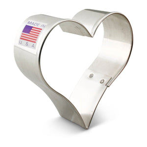 "Heart 2.5"" Cookie Cutter Ann Clark Cookie Cutter - Bake Supply Plus"