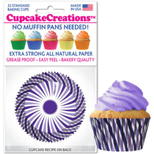 Puprle Swirl Cupcake Liner, 32 ct. Cupcake Creations Cupcake Liner - Bake Supply Plus