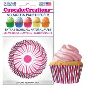 Pink Swirl Cupcake Liner, 32 ct. Cupcake Creations Cupcake Liner - Bake Supply Plus