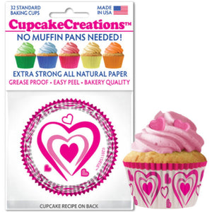 Happy Hearts Cupcake Liner, 32 ct. Cupcake Creations Cupcake Liner - Bake Supply Plus