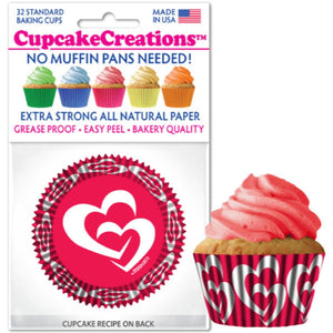 Sweet Hearts Cupcake Liner, 32 ct. Cupcake Creations Cupcake Liner - Bake Supply Plus