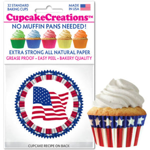 Star & Stripes Cupcake Liner, 32 ct. Cupcake Creations Cupcake Liner - Bake Supply Plus
