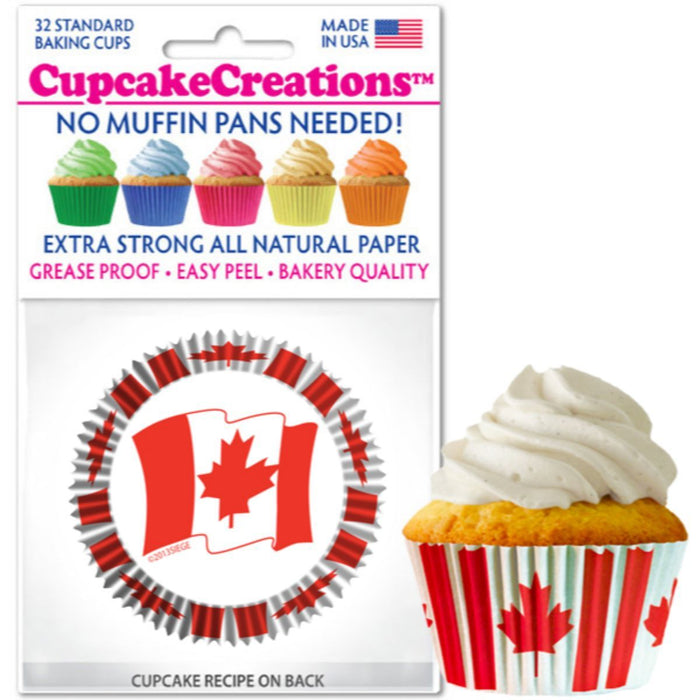 Canadian Flag Cupcake Liner, 32 ct.