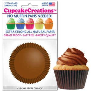 Chocolate Brown Cupcake Liner, 32 ct. Cupcake Creations Cupcake Liner - Bake Supply Plus