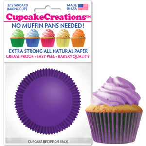 Plum Cupcake Liner, 32 ct. Cupcake Creations Cupcake Liner - Bake Supply Plus