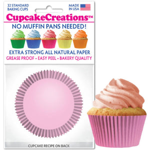 Light Pink Cupcake Liner, 32 ct. Cupcake Creations Cupcake Liner - Bake Supply Plus