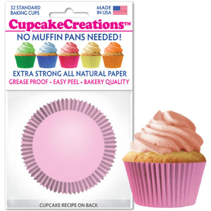 Light Pink Cupcake Liner, 32 ct.