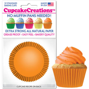 Orange Cupcake Liner, 32 ct. Cupcake Creations Cupcake Liner - Bake Supply Plus