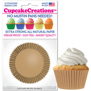 Natural Cupcake Liner, 32 ct. Cupcake Creations Cupcake Liner - Bake Supply Plus