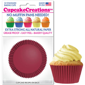 Burgundy Cupcake Liner, 32 ct. Cupcake Creations Cupcake Liner - Bake Supply Plus