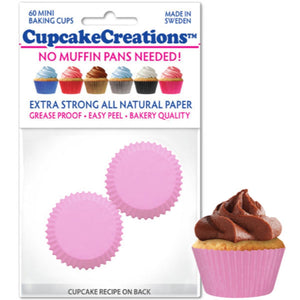 Mini Light Pink Cupcake Liner, 60 ct. Cupcake Creations Cupcake Liner - Bake Supply Plus