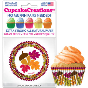 Autumn Leaves Cupcake Liner, 32 ct. Cupcake Creations Cupcake Liner - Bake Supply Plus