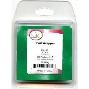 "3""X3"" Foil Wrap Green CK Products Foil Candy Wrap - Bake Supply Plus"