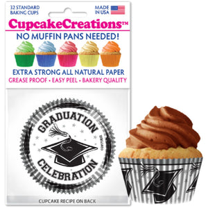 Graduation Cupcake Liner, 32 ct. Cupcake Creations Cupcake Liner - Bake Supply Plus
