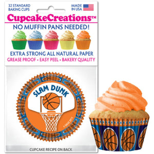 Basketball Cupcake Liner, 32 ct. Cupcake Creations Cupcake Liner - Bake Supply Plus